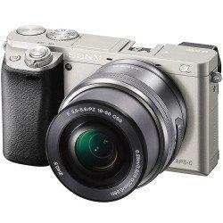Sony Alpha 6000 + 16-50 mm f/3.5-5.6 E PZ - Kit Argent