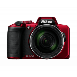 NIKON Pack Coolpix B600 Rouge + Étui + Carte SD 16Go