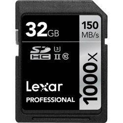 Carte Lexar SDHC 32GB 1000x Professional UHS-II (U3) Lexar